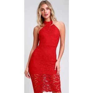 Lulu's Strut and Stun Midi Dress
